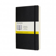 Moleskine Expanded Large Squared Softcover Notebook: Black