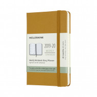 Moleskine 2020 18-month Pocket Weekly Hardcover Diary: Ripe Yellow