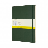 Moleskine Extra Large Squared Hardcover Notebook: Myrtle Green