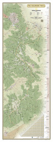 National Geographic Colorado Trail Laminated Wall Map