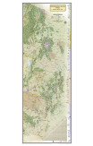 National Geographic Continental Divide Trail Laminated Wall Map