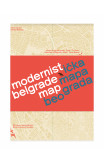 Modernist Belgrade Map