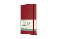 Moleskine 2022 18-month Weekly Large Hardcover Notebook: Scarlet Red