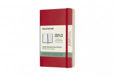 Moleskine 2022 18-month Weekly Pocket Softcover Notebook: Scarlet Red