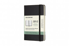 Moleskine 2022 18-month Weekly Pocket Hardcover Horizontal Notebook: Black