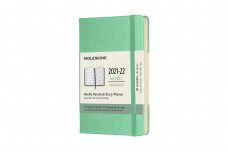 Moleskine 2022 18-month Weekly Pocket Hardcover Notebook: Ice Green