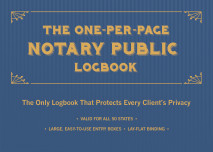 The One-per-page Notary Public Logbook